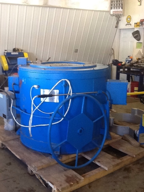 NEW Pyradia 900  lbs. crucible furnace 1