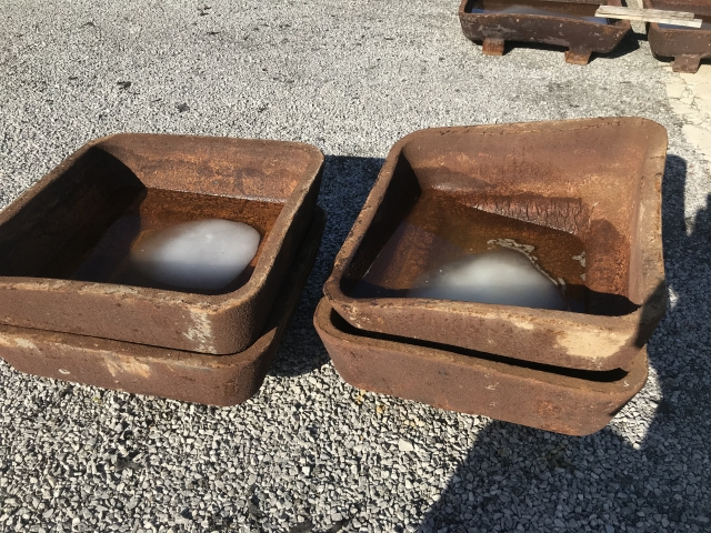 Used 1200 Cast steel molds heat checked and warped