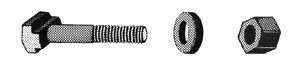 T SLOT BOLTS / EYE BOLTS / NUTS / WASHERS