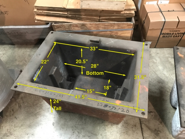 Zinc sow molds 4000-4500 LBS